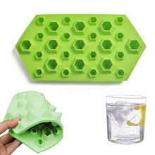Wulekue 1PCS Diamonds Gem Silicone Cool Ice Maker Cube Mold Tray Chocolate Bar Party Mould Crystal Jewels Resin Clay Molds Tools