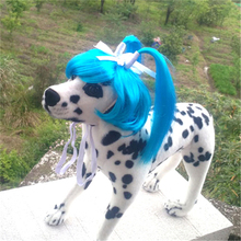 Cute Pet Dog Cat Curly Wig Long Hair Cosplay Halloween Costume Fancy Dress Dropshipping Hot Sale(China)