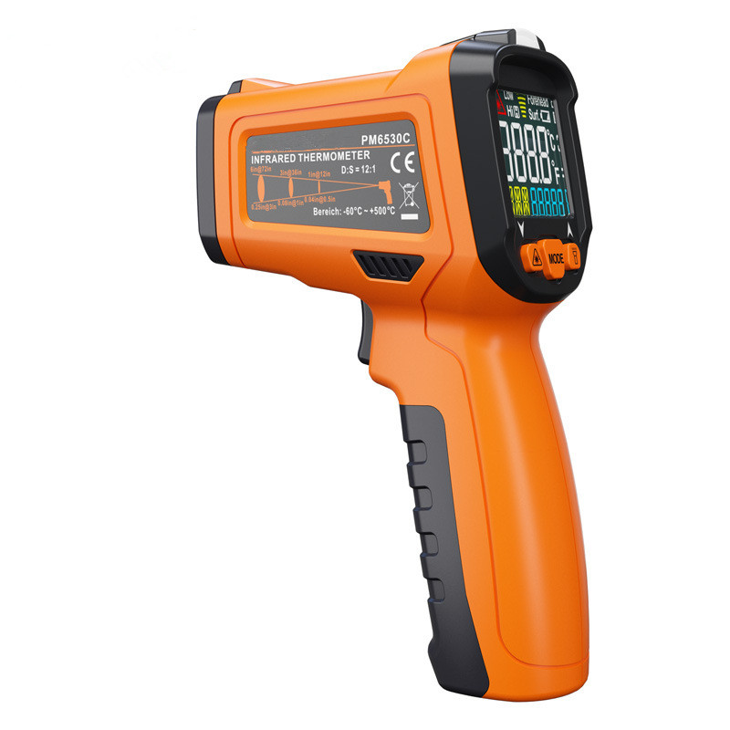 Hot Sale Original Handheld Laser Digital Thermometer Industrial Infrared Thermometer PM6530C Portable Display Temperature Meter<br>