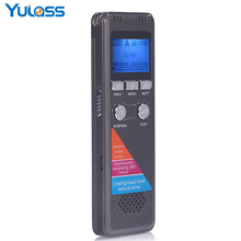 Yulass 8GB Digital Voice Recorder Professional Grey USB 2.0 Multi Language Long recording Equipment With WMA/WAV/MP3 Player(China)