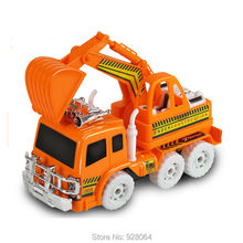 Simulation vehicle model/universal lighting music excavator toys/rc car model/baby toys for children/toy/lepin tec(China)