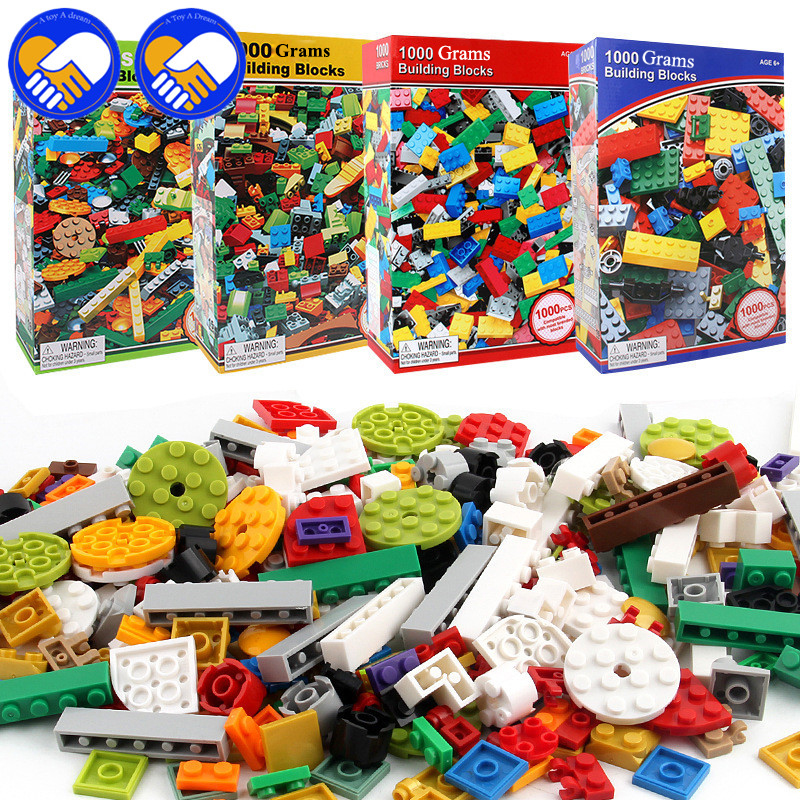 A TOY A DREAM Mixed 1000 Grams Random Colorful Bricks Building Blocks City DIY Creative Educational Toys For Children Designer<br>