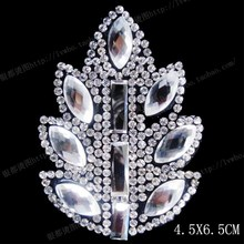 2pc/lot,fashion rhinestone designs, hot fix heat transfer T-shirt design iron fake diamond design(leaves)58