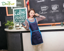 2017 Polyester Apron Stitching Color Detachable Antifouling Sleeveless Unisex Aprons for Woman Men Kitchen Chef Cooking avental