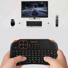 Viboton S1 English Russian 3-in-1 2.4GHz Wireless gaming Keyboard + Air Mouse + Remote Control with Touchpad for Windows Linux