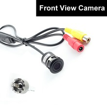 Car Auto Front View Camera Forward Cam Screw Bumper Mount Universal Fit Non-mirror Image w/o Parking Assistance Grid Lines