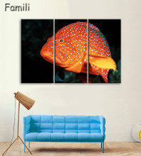 3 Pcs/Set Modern Painting Home Decorative Art Picture Paint on Canvas Prints The fascinating underwater world,wall pictures