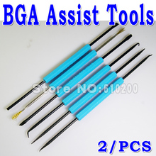 Freeshipping New 6 In 1 12 kinds Bga Solder Assist Tools for PCB Repair Rework Welding tool Direct Wholesale