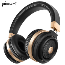 Picun Bluetooth 4.0 HIFI Headphones With Mic. Support TF Card MP3 Stereo Wireless Gaming Headset For Xiaomi iPhone Android PC(China)