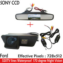 4.3inch Parking Car RearView Mirror Monitor+Night Vision Car Rearview Reverse CCD Camera for Ford Mondeo Fiesta Focus S-Max KUGA