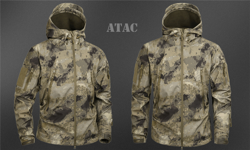 Mege Shark Skin Soft Shell Military Tactical Jacket Men Waterproof Army Fleece Clothing Multicam Camouflage Windbreakers 4XL 22