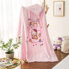 Hot Pink Hello Kitty Bedding Summer Polyester Comforters Quilts Girl's Baby Children's Bedroom Single Twin Full Queen Size Woven