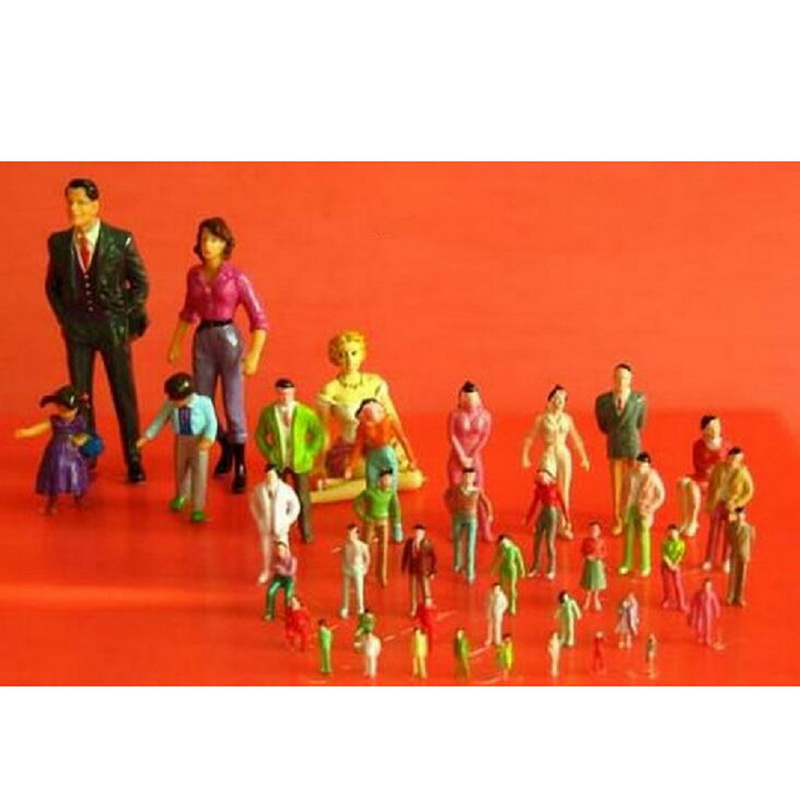 100 Pcs/Pack Colorful People Model Train Railroad Scenery 1:100 Sand Table Model People 2CM Height Hot Selling(China (Mainland))