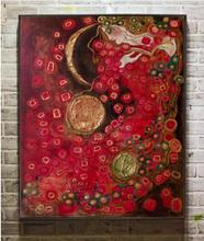 K-41 hand painted oil pianting on canvas Anne Marie Zilberman for bed room ,wall picture abstract painting no framed(China)