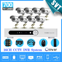 Buy Security 16CH H.264 Network DVR 8ch Outdoor IR Camera CCTV Video surveillance System Kit DVR monitor 16ch SK-252 for $253.64 in AliExpress store