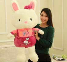 Fancytrader 37'' / 95cm Super Lovely Stuffed Soft Plush Giant Braces Rabbit Bunny Toy, 2 Colors Available, Free Shipping FT50885