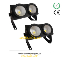 WS Theater Stage Audience Blinder 400 IP 2x100-Watt VW Effect Light 2-in-1 Warm White & Amber COB LEDs