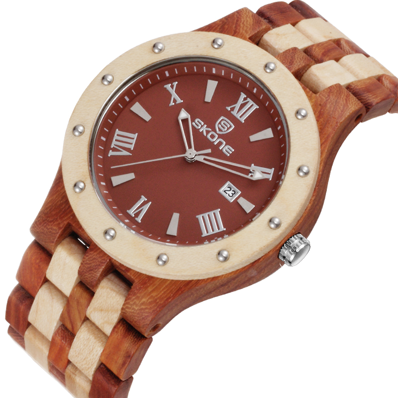 Skone Brand Mens Wood Watch for Environmental Protection Quartz Watches Men Luxury Brand Outdoor Wooden Watches montre homme<br><br>Aliexpress