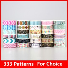 150pcs/Lot NEW Tape Flower Print Deco DIY Sticker /Adhesive Masking Japanese Washi Tape Paper Wholesale 333 Patterns choice