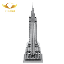 Hot Selling Empire Building Puzzle 3D Metal Puzzle  Jigsaw Puzzle 3D Model Toy Kids Educational Toy