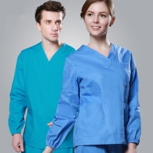 2017 Cheap Long Sleeve Scrubs Uniforms Sets Women and Men Unisex Medical Uniforms Wholesales Scrub Sets Hospital Scrubs Clothes(China)