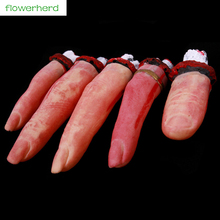 5pcs/bag April Fool 's Day Supply Creative People Funny Prank Make Terror Bleeding Broken Finger April Fools Day Toys(China)