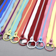 10Pcs/lot Meetee 15-40cm 3# Closed end Resin zippers 10 colors fashion pull ring zipper head DIY Sewing Bag garment zipper(China)