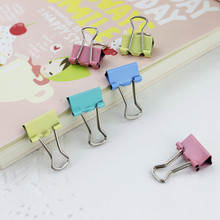 60 PCS Colorful Metal Binder Clips Paper Clip 15mm Office Learning Supplies Color Random
