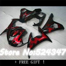 Hot sale body work for R6 fairing kit 2003 2004 2005 red black Fairing YZF fairings 03 04 05 Motorcycle Accessories & Parts(China)