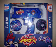 Beyblade metal fusion Beyblade spin top toy Plastic Beyblade Spinning Tops/Gyro Set Beyblade(China)