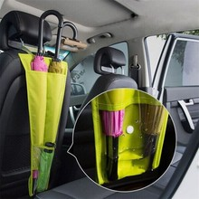 1pc Water-proof Umbrella Storage Cover Bags Hanging Long Car Seat Back Pouch Bag Multi Foldable Organization Storage Tool