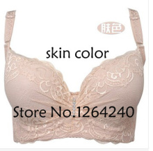 Plus size push up bra sexy lace adjustable thin cotton accept supernumerary breast push up large 38 40 42 C D E cup classic bra