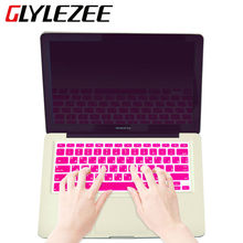 14 Colors US Russian Language Letter Silicone Keyboard Cover Sticker For Macbook Air 13 Pro 13 15 17 Retina Protector  Film