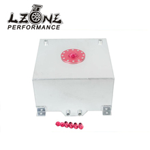 LZONE RACING- 15 GALLON/56.8L RACING ALUMINUM GAS FUEL CELL TANK WITH BILLET RED CAP FUEL SURGE TANK JR-TK72