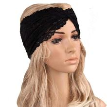 Hair Clips For Women Headwear Twist Sport Yoga Lace Headband Turban Headscarf Wrap Turban Diadema Pelo Muje