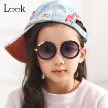 Fashion 2017 Bow Decoration Round Kids Sunglasses Childrens Sun Glasses Baby Sun-shading Eyeglasses Infantil Outdoor Cool Gafas(China)