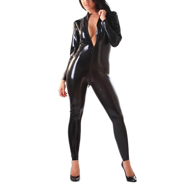 Latex Rubber Front-Zip Catsuit