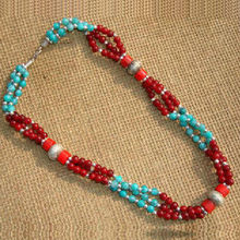 Tibet Nepal ethnic jewelry wholesale oval beads necklace D-16(China)