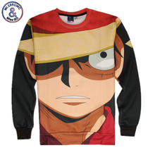 Harajuku Cartoon 3d Sweatshirt Jumper Japanese Anime One Piece Character Monkey D. Luffy Sweatshirt Hoodies Pullovers