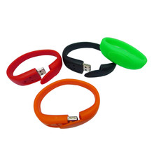 2017 top selling Retail Pendrive 32G Bracelet USB Flash Drive Colorful Silicon Usb Disk Couple Wristband Usb2.0 Memory(China)