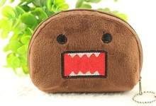 6PCS Domo Kun Half Round Kid's Plush Coin Purse & Wallet Pouch Case BAG Pendant Bags Pouch Beauty Holder BAG Women Handbag(China)