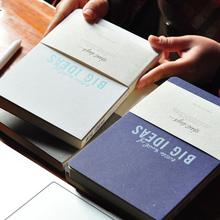 OUR STORY BEGINS Big Ideas Vintage Notebook A5 Hardcover Simple Creative Bare Ridge Of The Cloth 1PCS