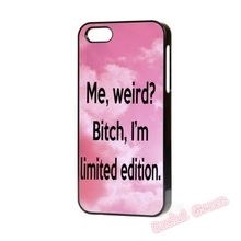 ME WEIRD I'M LIMITED EDITION cell Phone Case Cover For iPhone 4S 5 5S SE 5C 6 6S Plus 7 7Plus Samsung Galaxy S5 S6 S7 edge shell