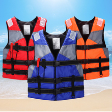 Swimming Life Jacket Adult Belted Fishing Safety Survival Vest with Whistle Outdoor Swimming Floating Drifting Jackets z30