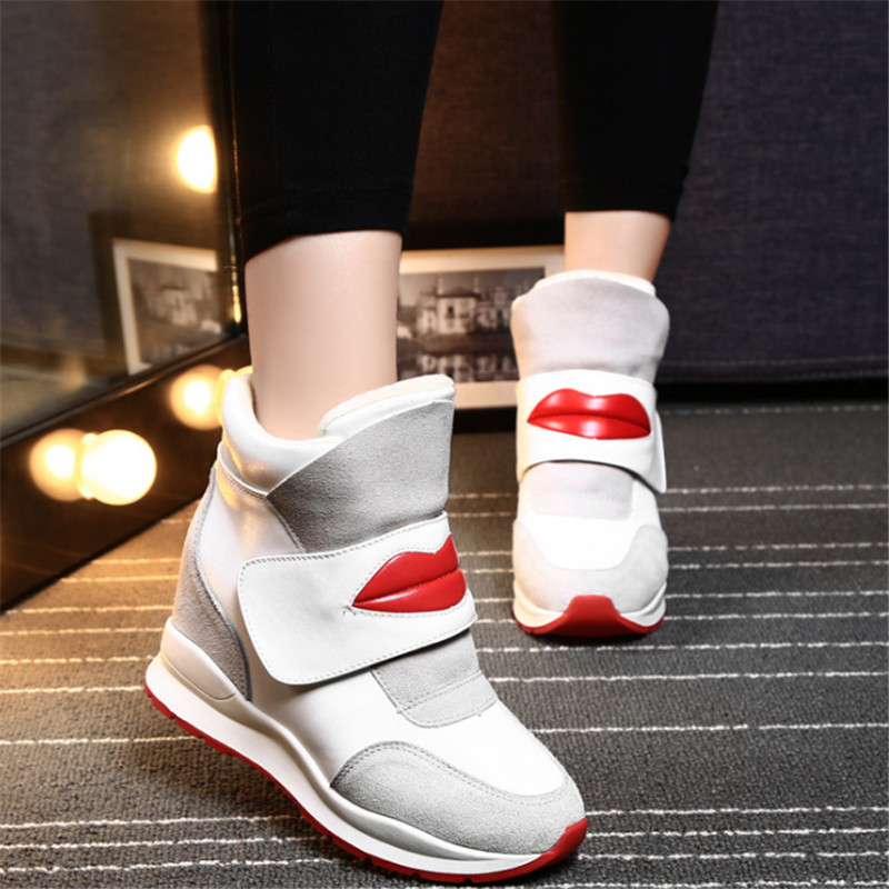 Winter Women boots Outdoor fashion High top velvet warmth lips casual Walking shoes snow boots thigh high boots zapatos mujer<br><br>Aliexpress