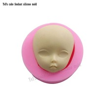 Baby Face Fondant Silicone Mold Girl Gum Paste Mold Cake Decorating Clay Resin Soap Candy Fimo Moulds Chocolate Cake Molds F0788