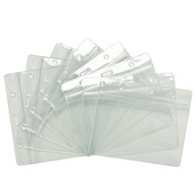 20pcs Clear Credit Card Sleeves Protectors Soft Plastic Shielded Waterproof ID Card Band Cards Holders Storage bags