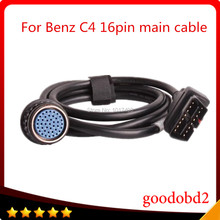 For Benz SD Connect MB Star C4 OBD2 16PIN Cable OBD II 16 Pin connect mian test Cable diagnostic tool 16-pin obd adapter cable