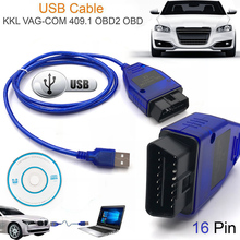 2018 Nova OBD2 VAG-COM 409.1 Vag com 409.1 KKL USB Cable Scanner Scan Tool Interface Para audi vw assento volkswagen skoda(China)