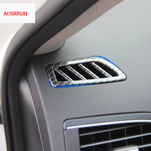 Buy 2PCS car-styling carbon fiber Front Air Condition Vent Outlet Interior Trim cover Renault Koleos 2 2016 2017 car accessories for $12.99 in AliExpress store